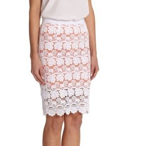 Rebecca Minkoff Angelica lace floral pencil skirt